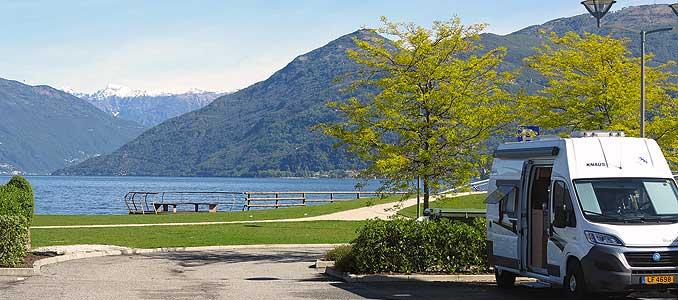 Bild zeigt Camping am Lago Maggiore