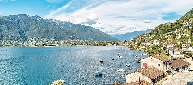 Bild zeigt Gambarogno am Lago Maggiore