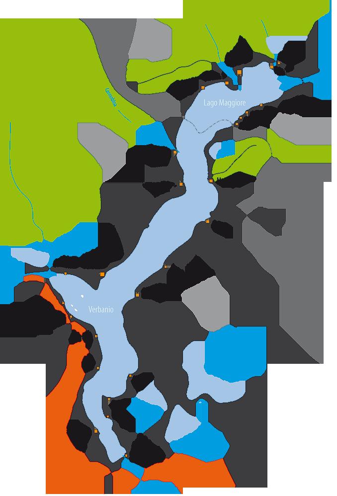 Bild zeigt eine Karte vom Lago Maggiore